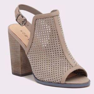 Anthropologie KDB Grey Goya Heels